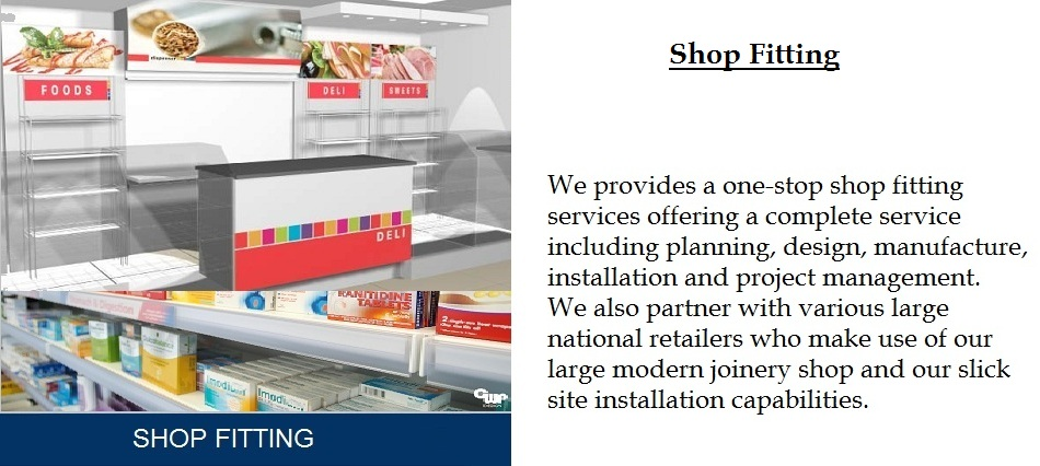 shop fitting banner